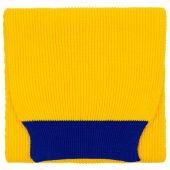 Шарф Snappy, желтый с синим