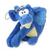 Мягкая игрушка- брелок Дракон, синий, арт. 023036003