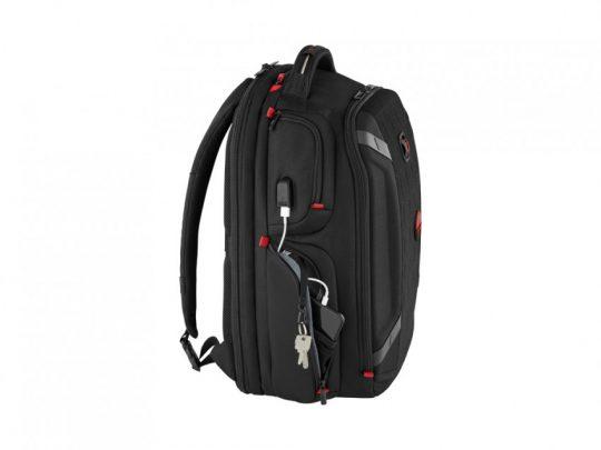 Рюкзак WENGER PlayerOne 17.3, чёрный, 100% полиэстер, 38х26х49 см, 29 л, арт. 023067603