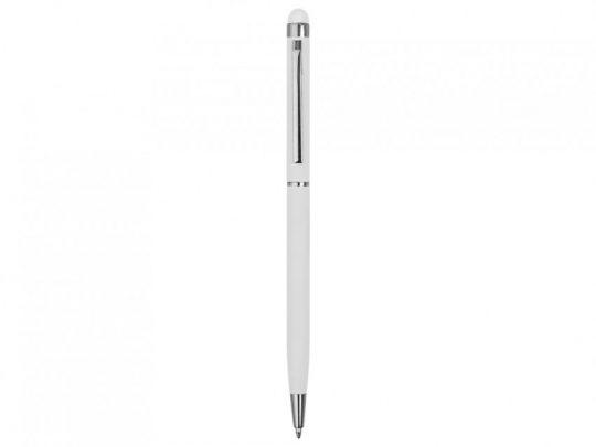 Ручка-стилус шариковая Jucy Soft с покрытием soft touch, белый, арт. 023040403