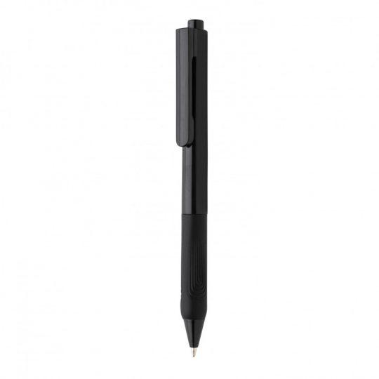Ручка X9 с глянцевым корпусом и силиконовым грипом, арт. 023069706
