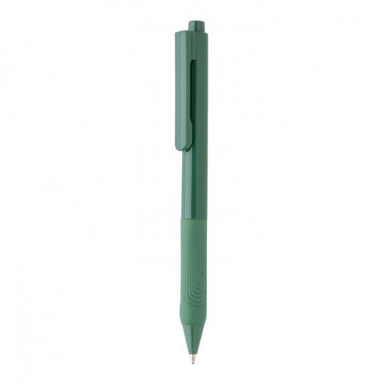Ручка X9 с глянцевым корпусом и силиконовым грипом, арт. 023070006