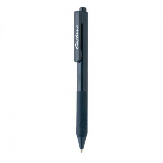 Ручка X9 с глянцевым корпусом и силиконовым грипом, арт. 023070106