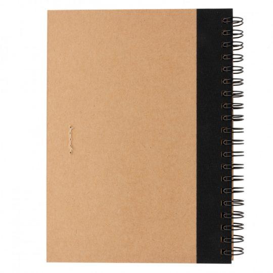 Блокнот на спирали Kraft с ручкой, арт. 023068906