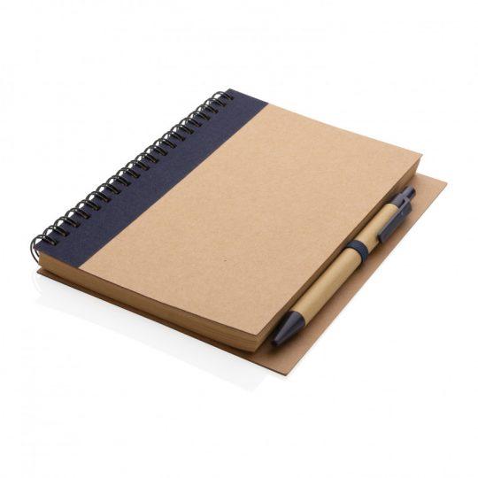 Блокнот на спирали Kraft с ручкой, арт. 023068606