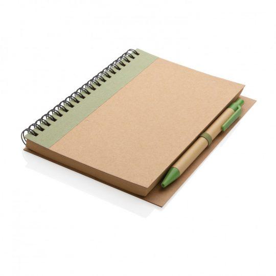 Блокнот на спирали Kraft с ручкой, арт. 023068706