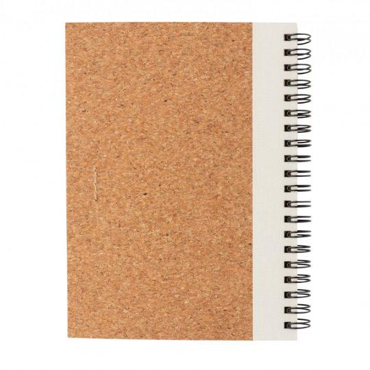 Блокнот на спирали Cork с ручкой, арт. 023069206