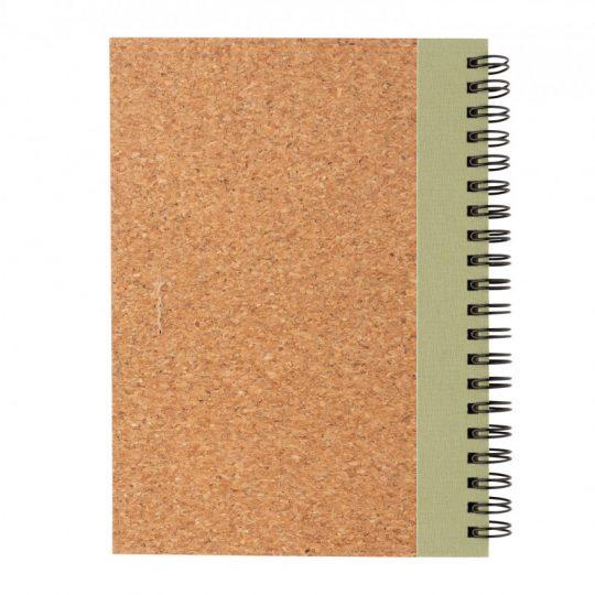 Блокнот на спирали Cork с ручкой, арт. 023069106