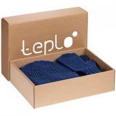 Набор Nordkyn с шарфом, синий меланж, размер L