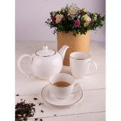Набор GOLD: две чайных пары и чайник в подарочной упаковке