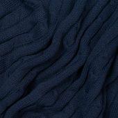 Плед Fado вязаный, 160*90 см, темно-синий (без подарочной коробки)