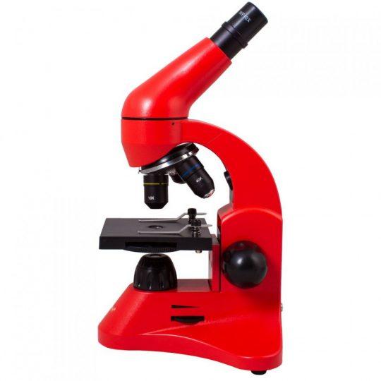 Монокулярный микроскоп Rainbow 50L с набором для опытов, красный