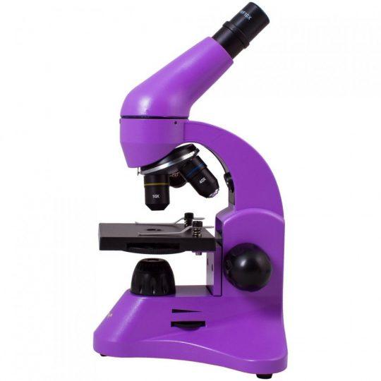 Монокулярный микроскоп Rainbow 50L с набором для опытов, фиолетовый