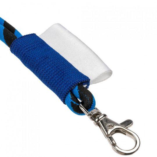 Шнурок для бейджа Tube Long, черный с синим