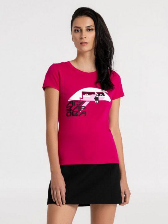 Футболка женская «Меламед. Жанна Агузарова», ярко-розовая (фуксия), размер XL
