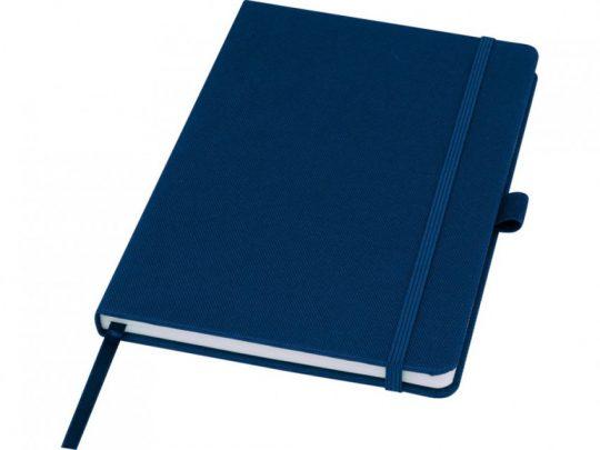 Блокнот Honua форматом A5 из переработанной бумаги с обложкой из переработанного ПЭТ, темно-синий, арт. 023847503