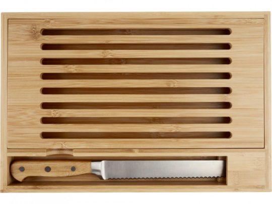 Бамбуковая разделочная доска с ножом Pao, арт. 023846003