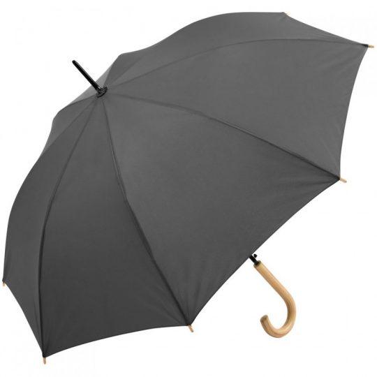 Зонт-трость OkoBrella, серый