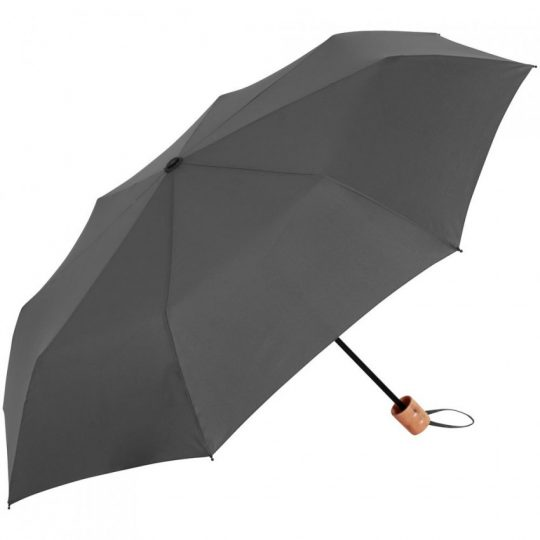 Зонт складной OkoBrella, серый