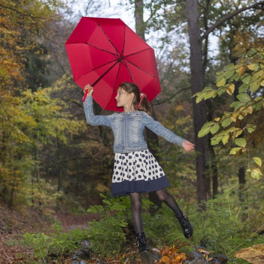 Зонт складной OkoBrella, темно-синий