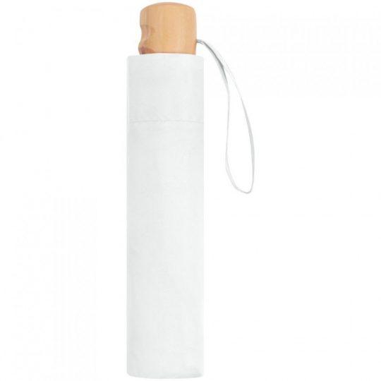 Зонт складной OkoBrella, белый
