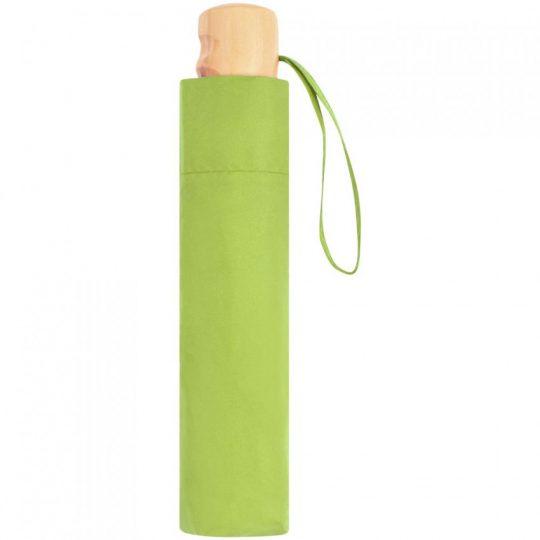 Зонт складной OkoBrella, зеленое яблоко