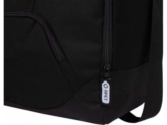 Спортивная сумка Retrend из вторичного ПЭТ, черный, арт. 023848303