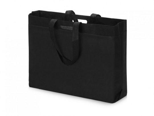 Сумка для покупок из спанбонда Ambit, 400*380*120 с ручкой 550/30 мм, черный, арт. 023812803