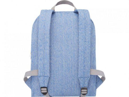 Рюкзак из переработанного хлопка и полиэстера плотностью 210 г/м² Pheebs, синий, арт. 023844203