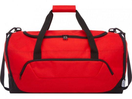 Спортивная сумка Retrend из вторичного ПЭТ, красный, арт. 023848103