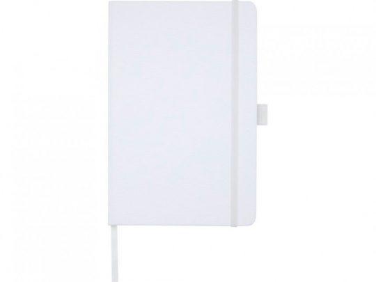 Блокнот Honua форматом A5 из переработанной бумаги с обложкой из переработанного ПЭТ, белый, арт. 023847203