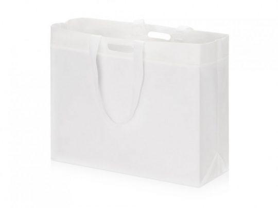 Сумка для покупок из спанбонда Ambit, 400*380*120 с ручкой 550/30 мм, белый, арт. 023812703