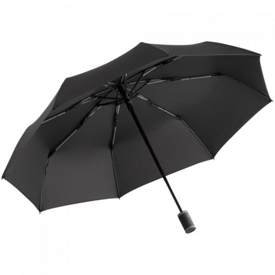 Зонт складной AOC Mini с цветными спицами, серый