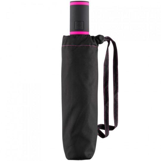Зонт складной AOC Mini с цветными спицами, розовый