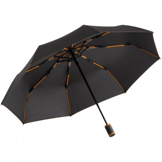 Зонт складной AOC Mini с цветными спицами, оранжевый