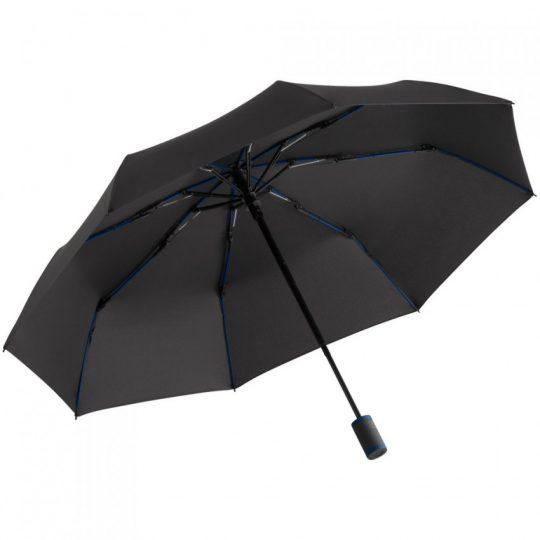 Зонт складной AOC Mini с цветными спицами, темно-синий