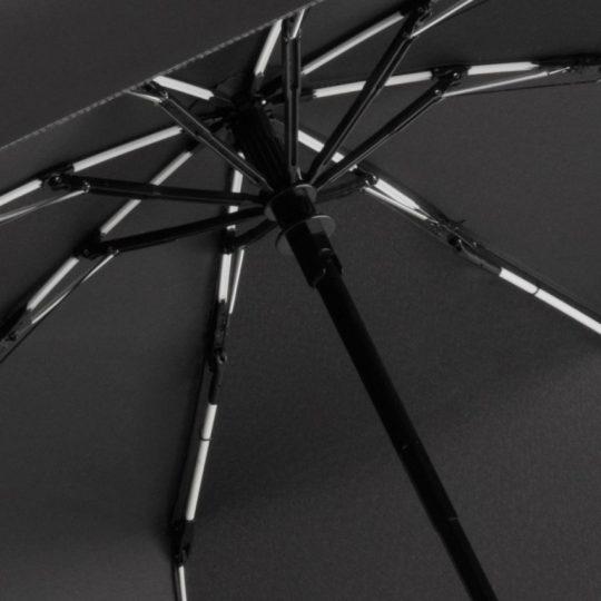 Зонт складной AOC Mini с цветными спицами, белый