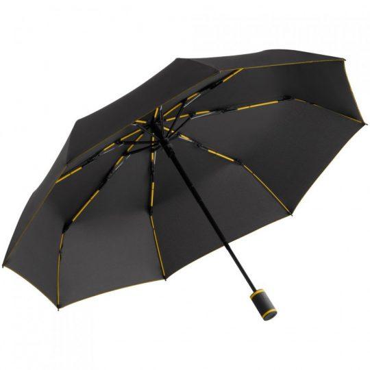 Зонт складной AOC Mini с цветными спицами, желтый