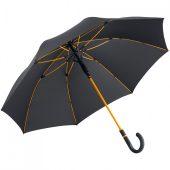 Зонт-трость с цветными спицами Color Style, оранжевый