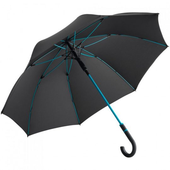 Зонт-трость с цветными спицами Color Style, бирюзовый