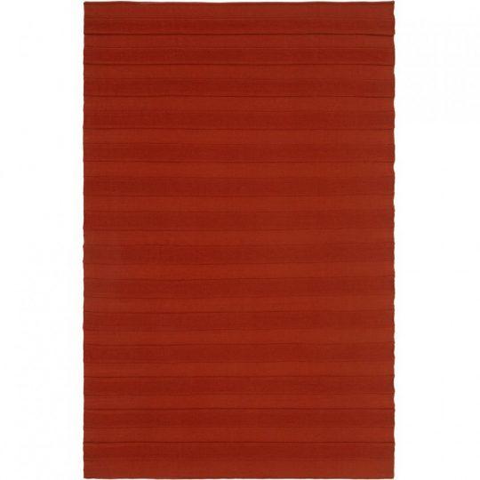 Плед Pleat, коричневый (терракота)