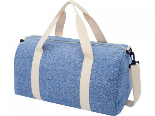 Спортивная сумка из переработанного хлопка и полиэстера плотностью 210 г/м² Pheebs, синий/натуральны, арт. 023843903