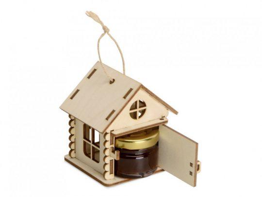 Подарочный набор Варенье в домике, варенье из вишни с шоколадом и коньяком 25 мл, арт. 023814303