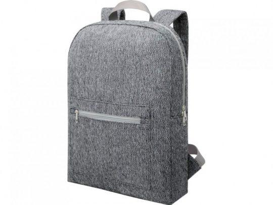 Рюкзак из переработанного хлопка и полиэстера плотностью 210 г/м² Pheebs, черный, арт. 023844303
