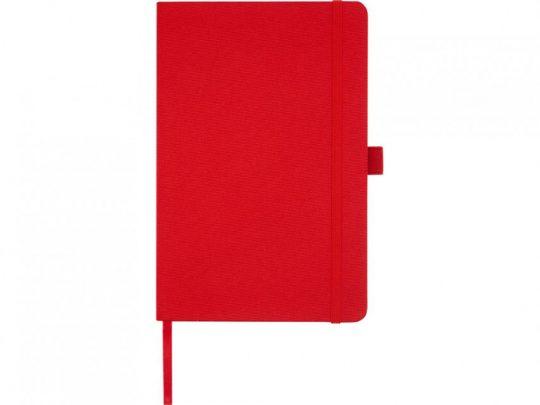 Блокнот Honua форматом A5 из переработанной бумаги с обложкой из переработанного ПЭТ, красный, арт. 023847303