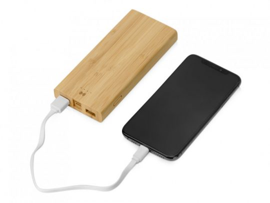 Внешний беспроводной аккумулятор из бамбука Bamboo Air, 10000 mAh, арт. 023810403