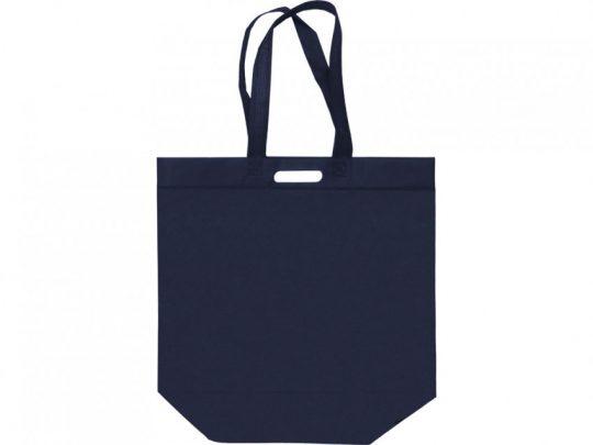 Сумка для покупок из спанбонда Ambit, 400*380*120 с ручкой 550/30 мм, синий, арт. 023812903