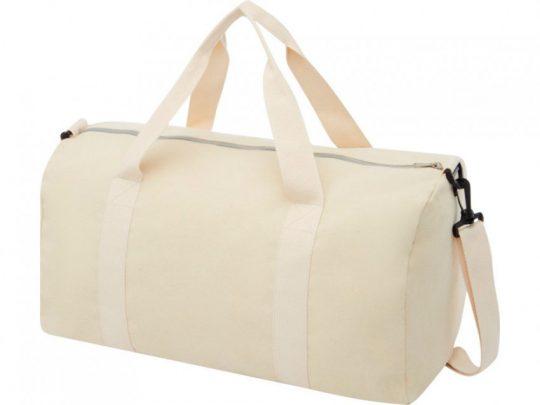 Спортивная сумка из переработанного хлопка и полиэстера плотностью 210 г/м² Pheebs, натуральный, арт. 023843803