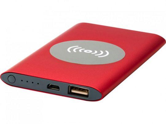 Беспроводное портативное зарядное устройство емкостью 4000 мАч Juice, красный, арт. 023845103
